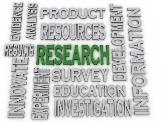 Research concept word cloud background